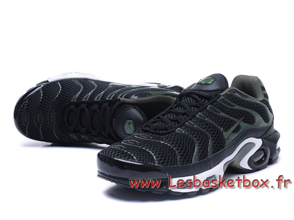basket nike air max plus noir vert chausport nike pas cher. Black Bedroom Furniture Sets. Home Design Ideas