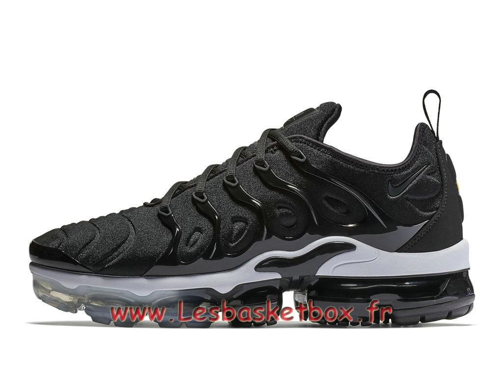 Basket Nike Air VaporMax Plus/TN Noires Blanc 924453_010 chaussure sportwear prix Pour Homme