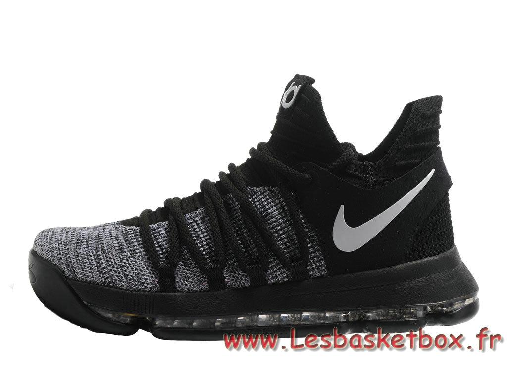 Basket Nike KD 10 Noires/Rouge Homme Nike Release Officiel Chaussures Noires ...