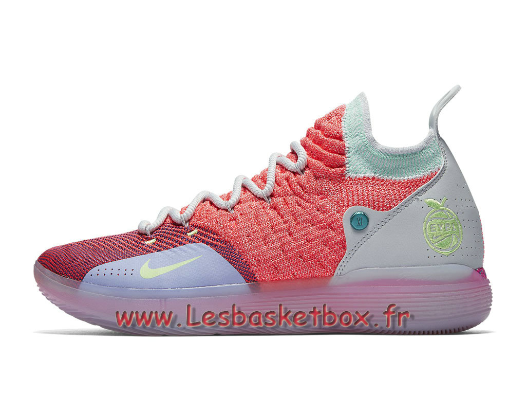 competitive price 8bfb4 b7409 Basket Nike KD11 EYBL Peach Jam AO2604 600 Chaussures Basket Officiel Pour  Homme