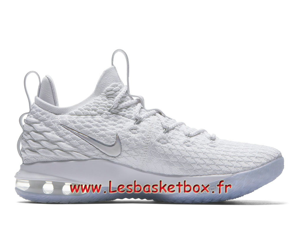 cheap for discount 05f7c 11355 ... Basket Nike LeBron 15 Low Blanc AO1755100 Chaussures Officiel Prix Pour  Homme ...