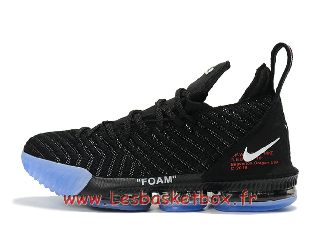 Basket Nike Lebron 16 Off White/Noires Chaussure NIke Prix Pour Homme