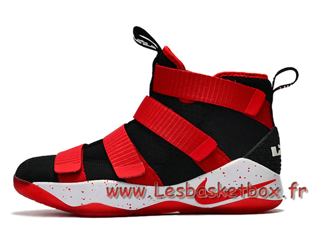 65a1d698c727 Basket Nike LeBron Soldier 11 Red Black Shoes Release prix pas cher For Men´