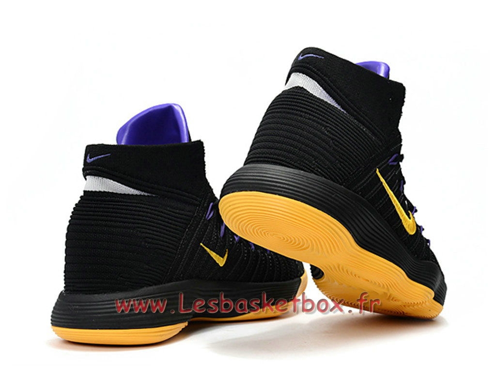 6739ce62f2e2 ... Basket Nike React Hyperdunk 2017 Flyknit Black Yellow 917726 ID5 Men´s  Nike prix Shoes
