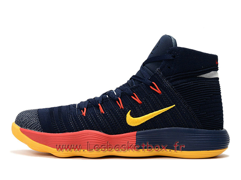 Basket Nike React Hyperdunk 2017 Flyknit Noires/Orange 917726_ID7 Chaussures Nike prix Pour homme