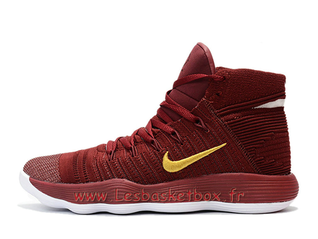 Basket Nike React Hyperdunk 2017 Flyknit Rouge Or 917726_ID1 Chaussures Nike pas Cher Pour homme