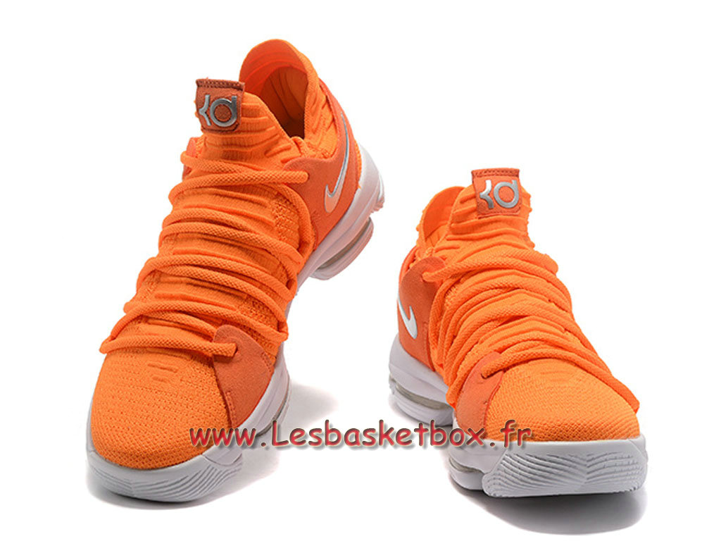 purchase cheap acfe3 10b70 ... Basket Nike Zoom Kd 10 Chaussures Nike KD pas cher Pour Homme Orange ...