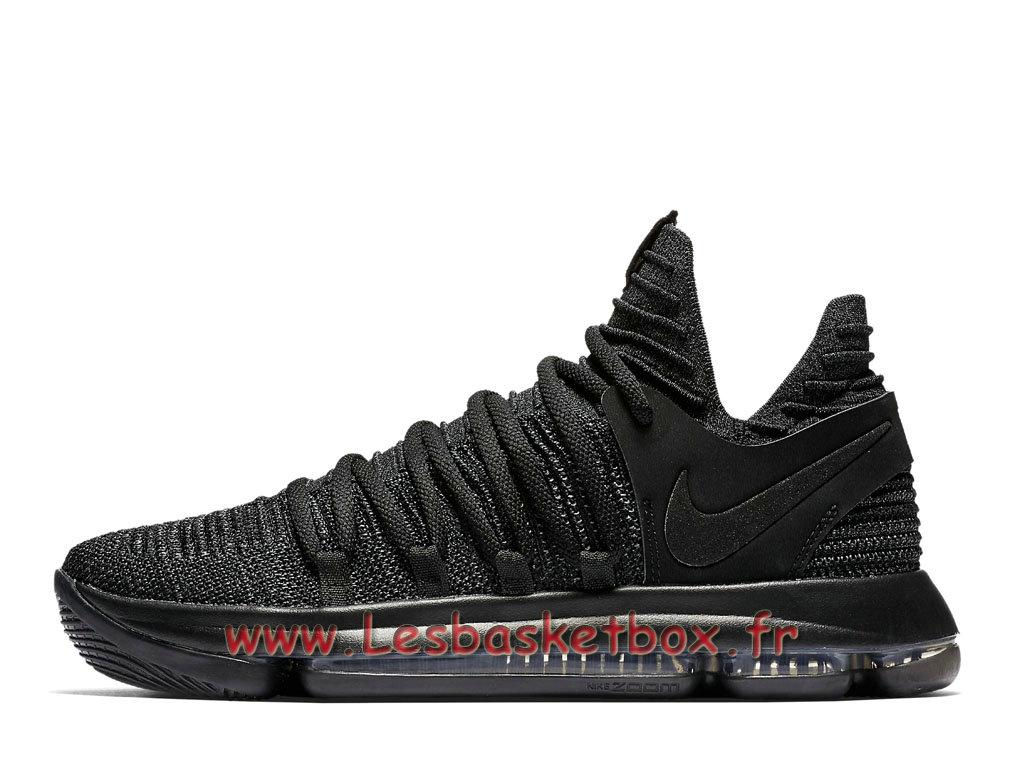 new arrive e8ab2 1a636 Basket Nike Zoom KD 10 Triple Black 897815_004 Chaussures Officiel Pas cher  Pour Homme noires ...