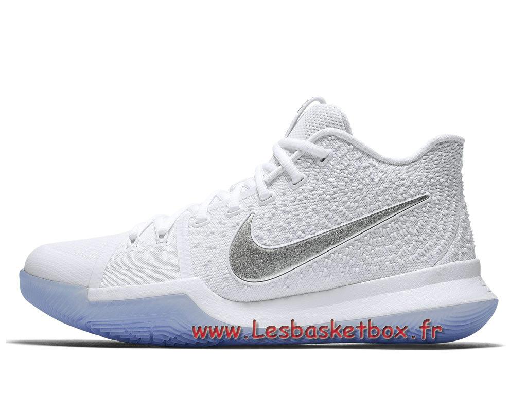 big sale 713b7 a0b0c Chausport Basket Nike Kyrie 3 Chrome 852395 103 Nike Pas cher Pour homme  Blance ...
