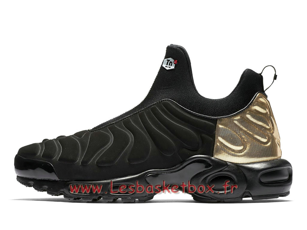 Chaussures Basket Nike Air Max Plus TN Slip On Black Gold 940382_001 Officiel 2018 Pour Homme ...