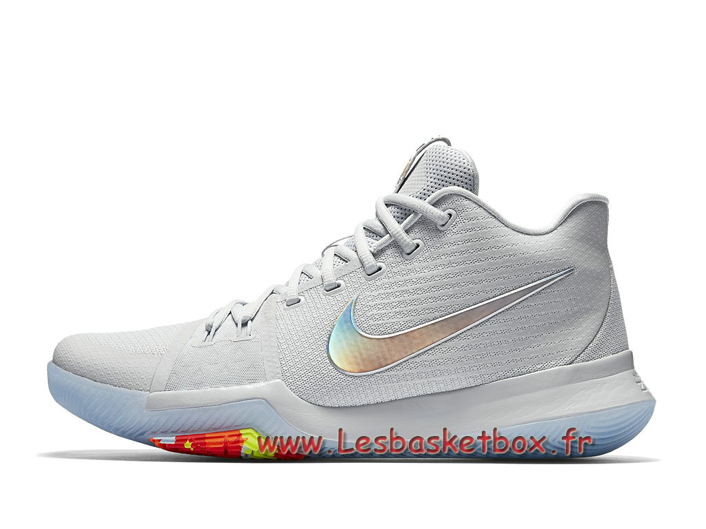 pretty nice 441a8 8173e Chaussures Basket Nike Kyrie 3 Iridescent Swoosh 852416 001 Officiel Nike  prix pour Homme ...