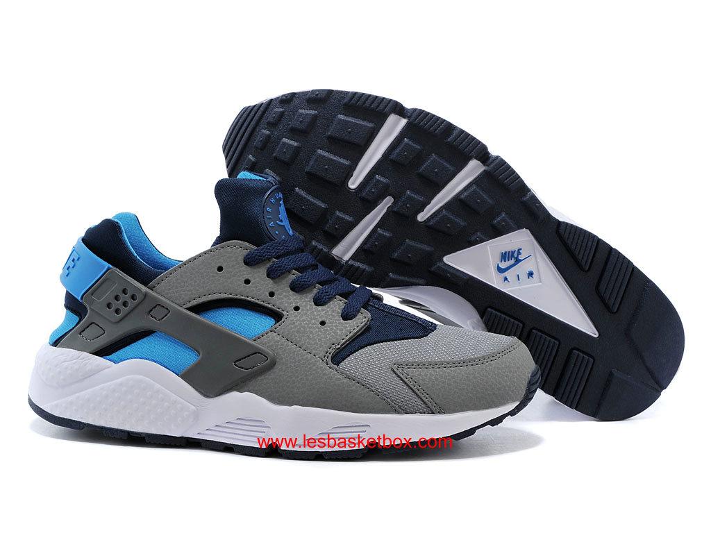 Le Nouveau Nike Air Huarache (Air Urh) Bleu Gris Chaussures Pour