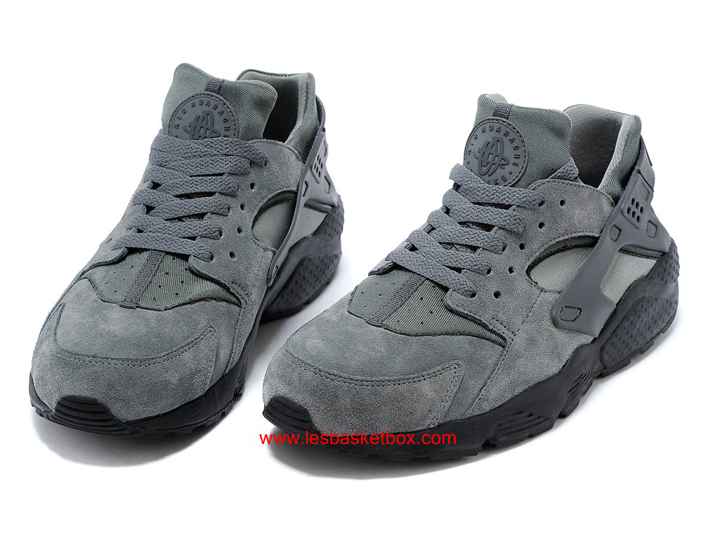 ... Nike Air Huarache (Air Urh) Cool Gris/Antrachite Chaussures Pour Homme 318429- ...