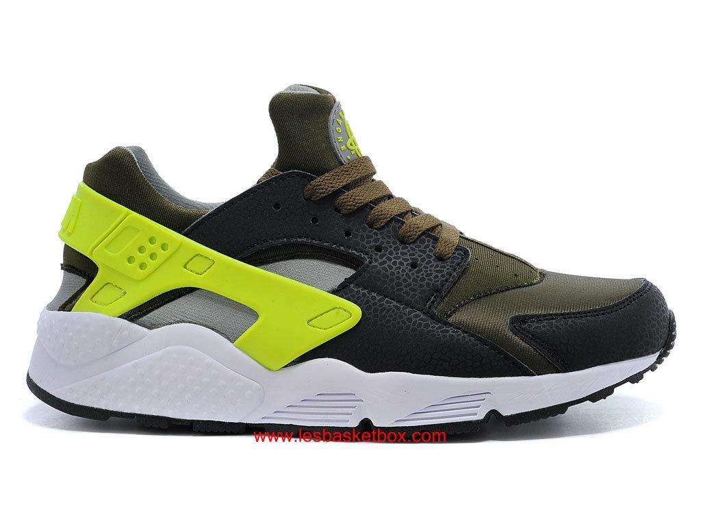 super popular c27ab df263 Nike Air Huarache-Air Urh Noir Jaune Blanc Chaussures Pour Homme 318429-007  ...