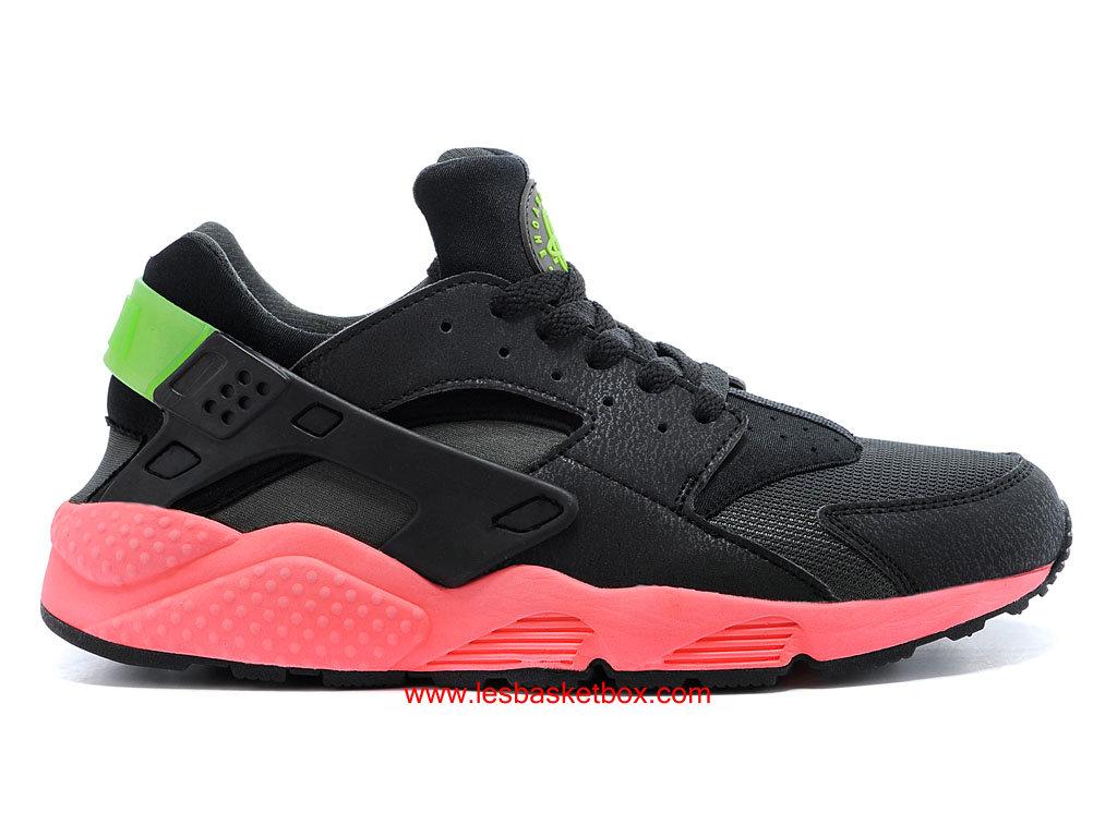 689a4f7509 Nike Air Huarache (Air Urh) QS Noir Hyper punch Rose Vert Hommes 318429-