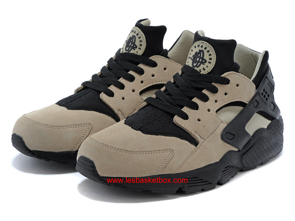 Chaussure Nike Air Huarache (Air Urh) Sable/Noir Pour Homme Pas Cher