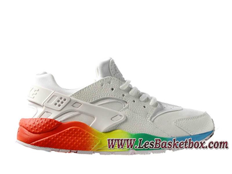 hot sale online f4d1d 44d03 Nike Air Huarache Blanc Color 318429 ID1 Homme Nike Urh Pas cher Pour  Blances Rouge