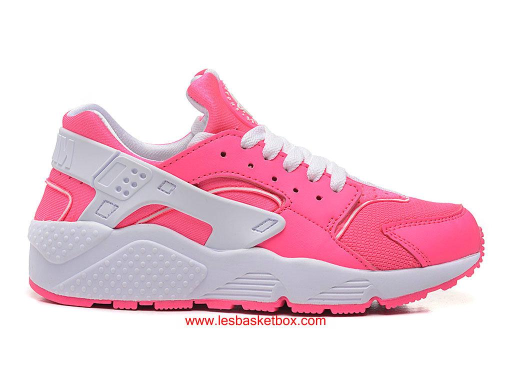 a2a4a8e2b4b Nike Air Huarache Chaussures-Nike Air Urh Basket Rose Blanche Pas Cher Pour  Femme ...