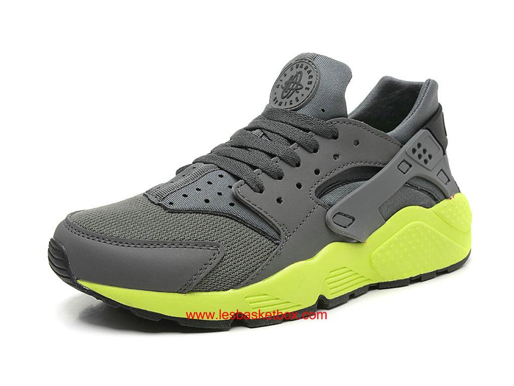 Nike Air Huarache (Nike Chaussure Air Urh) Gris Vert Chaussure (Nike Prix Pas Cher abd08b