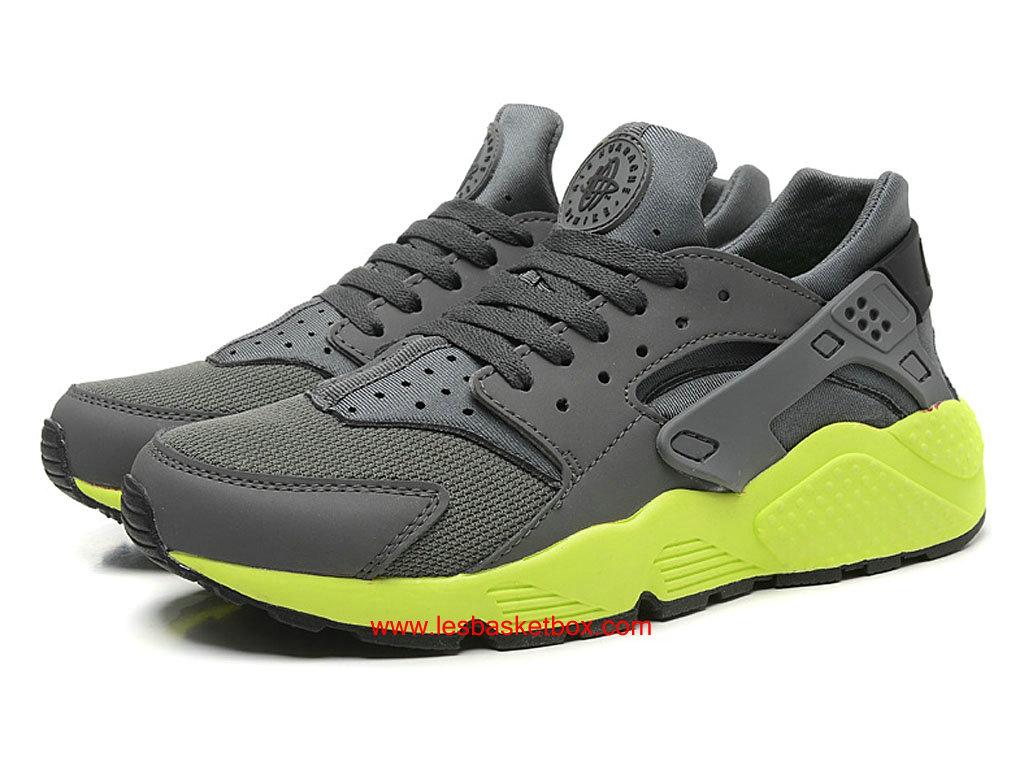... Nike Air Huarache (Nike Air Urh) Gris/Vert Chaussure Prix Pas Cher Pour ...