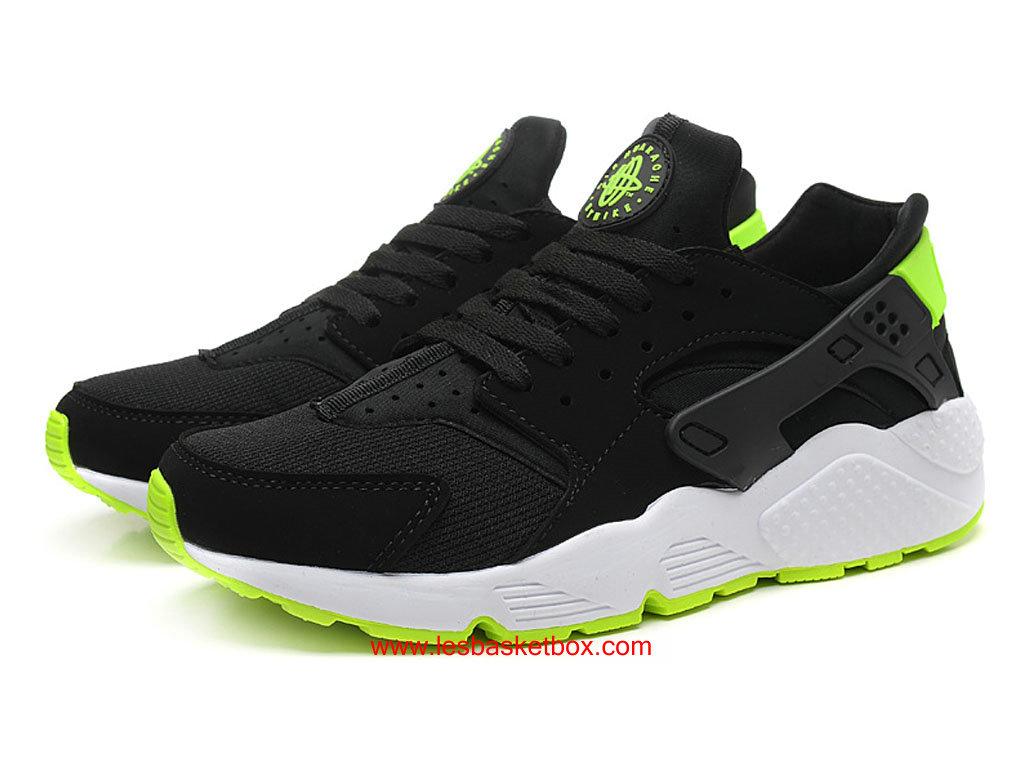 promo code b9b0a e4a4b ... Nike Air Huarache (Nike Air Urh) Noir Blanc Vert Pas Cher Pour Femme  318429 ...