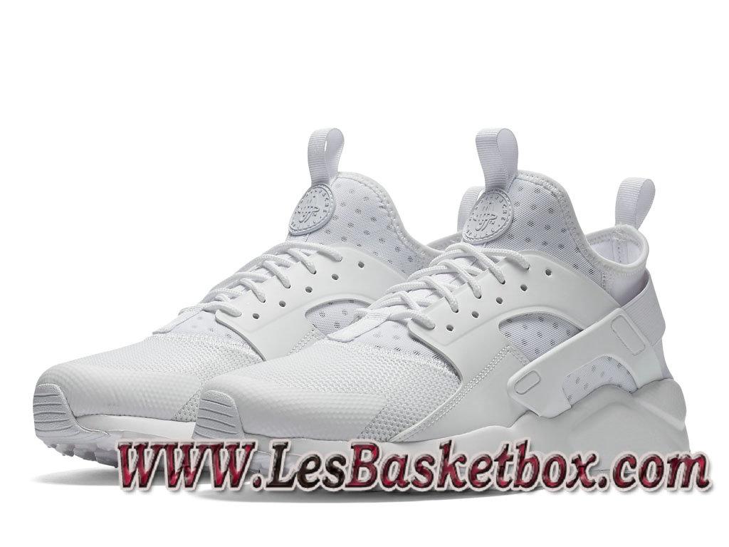 a08e17c13e ... Nike Air Huarache Run Ultra Blanche 819685_101 Chaussures nike Urh Pas  cher Pour Homme ...