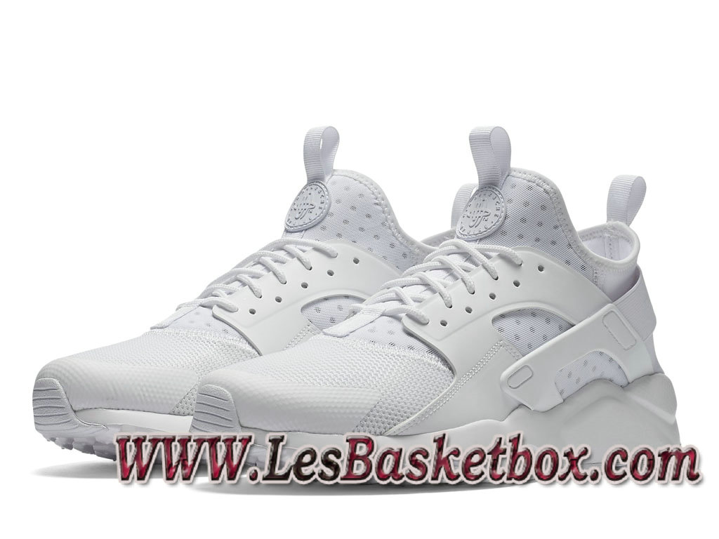 detailed look f8722 c7f9d ... Nike Air Huarache Run Ultra Blanche 819685 101 Chaussures nike Urh Pas  cher Pour Homme ...