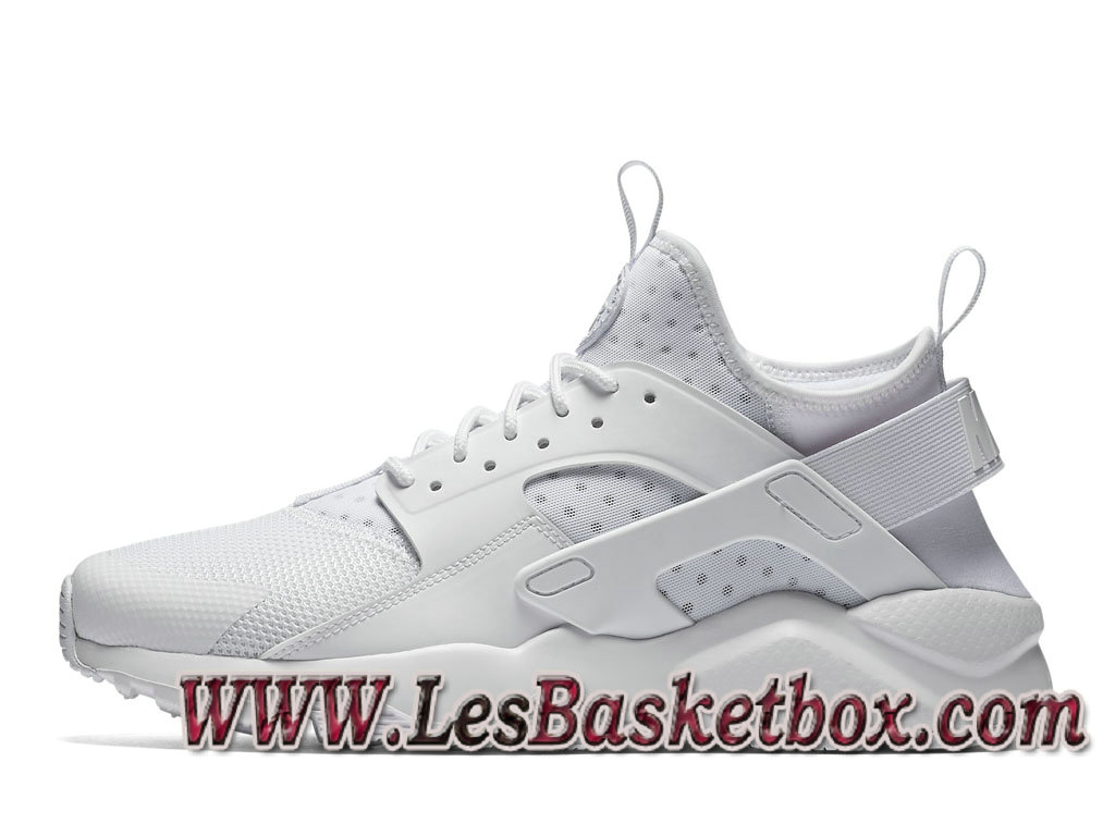new styles 79b56 41466 Nike Air Huarache Run Ultra Blanche 819685 101 Chaussures nike Urh Pas cher  Pour Homme ...