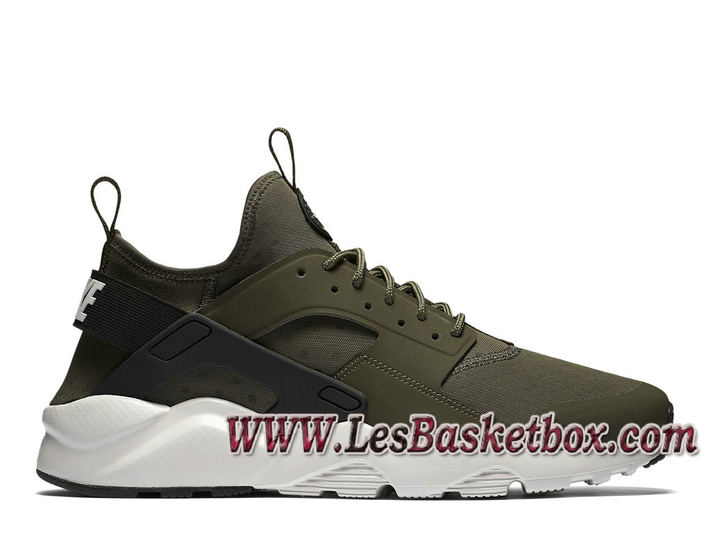 Nike Air Huarache Run Ultra Cargo Khaki Light Bone Black 819685_300 Officiel Nike urh Pour Homme ...