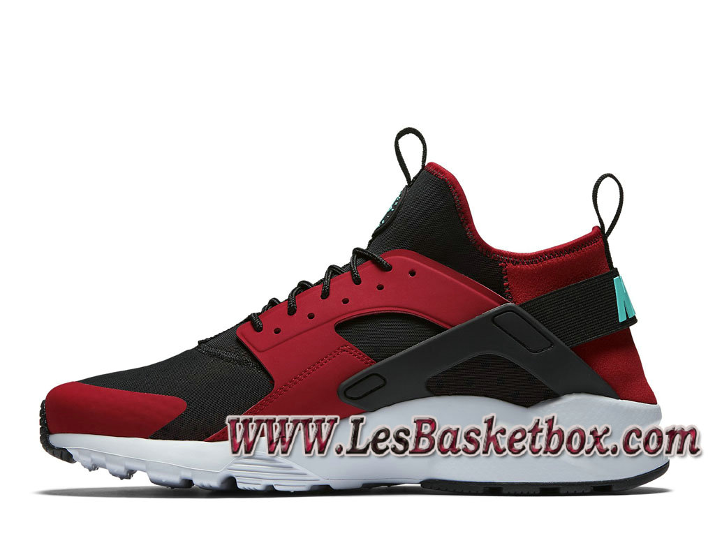 Nike Air Huarache Ultra Gym Red Black 819685_600 Chaussures Officiel  Urh Pour Homme Rouge