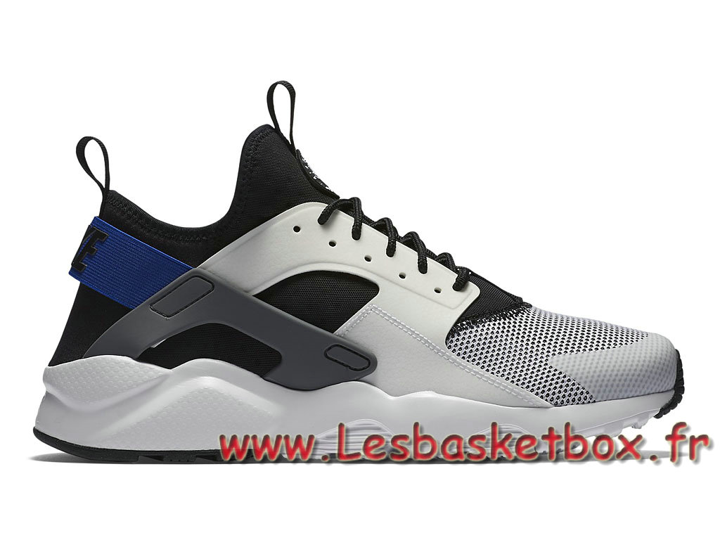 quality design 66255 bddae Nike Air Huarache Ultra White Racer Blue 819685 100 Chaussures Nike Urh Pas  cher Pour Homme ...