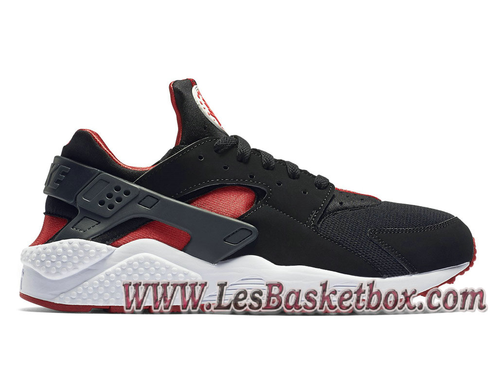 huge selection of 72ffe 7dd2b Nike Air Huarache(Nike Urh) Bred 318429016 Chaussures Noir Et Rouge Prix  Pour Homme ...
