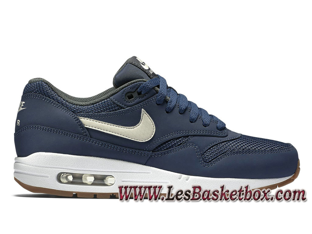 more photos 6106a 5a784 Nike Air Max 1 Essential Midnight Navy 537383401 Chaussures Officiel Prix  Pour Homme Bleu ...