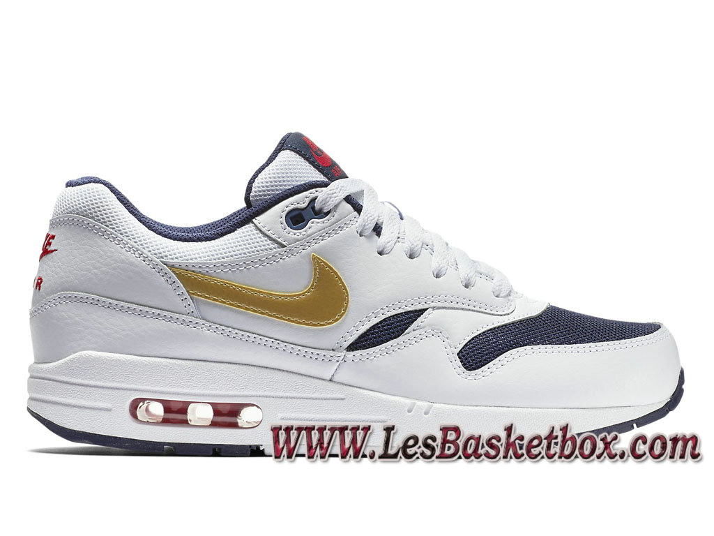 competitive price 69f45 b8a61 Nike Air Max 1 Essential Olympic 537383-127 Men´s Officiel Prix Shoes White