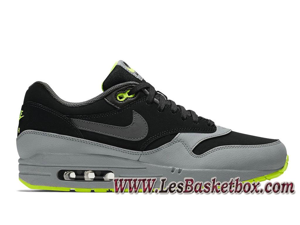 best service 090aa 0c26c Nike Air Max 1 LTR Premium Medium Grey 654466 007 Men´s Officiel Prix Shoes