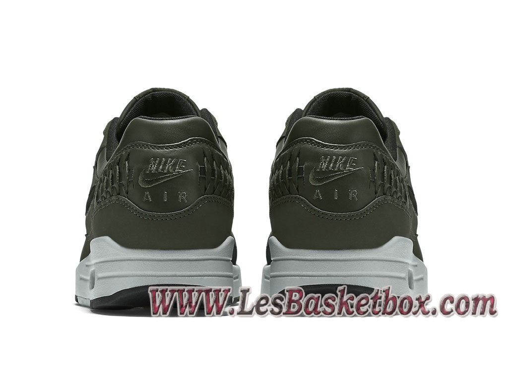 new product 38dc4 5bfc1 ... Nike Air Max 1 Woven Carbon Green 725232-300 Chaussures Officiel Prix  Vert Et Noir
