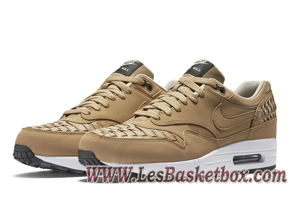 lowest price c6c8f 25668 ... Nike Air Max 1 Woven Pale Shale 725232-200 chaussure nike huarache Pour  Homme ...