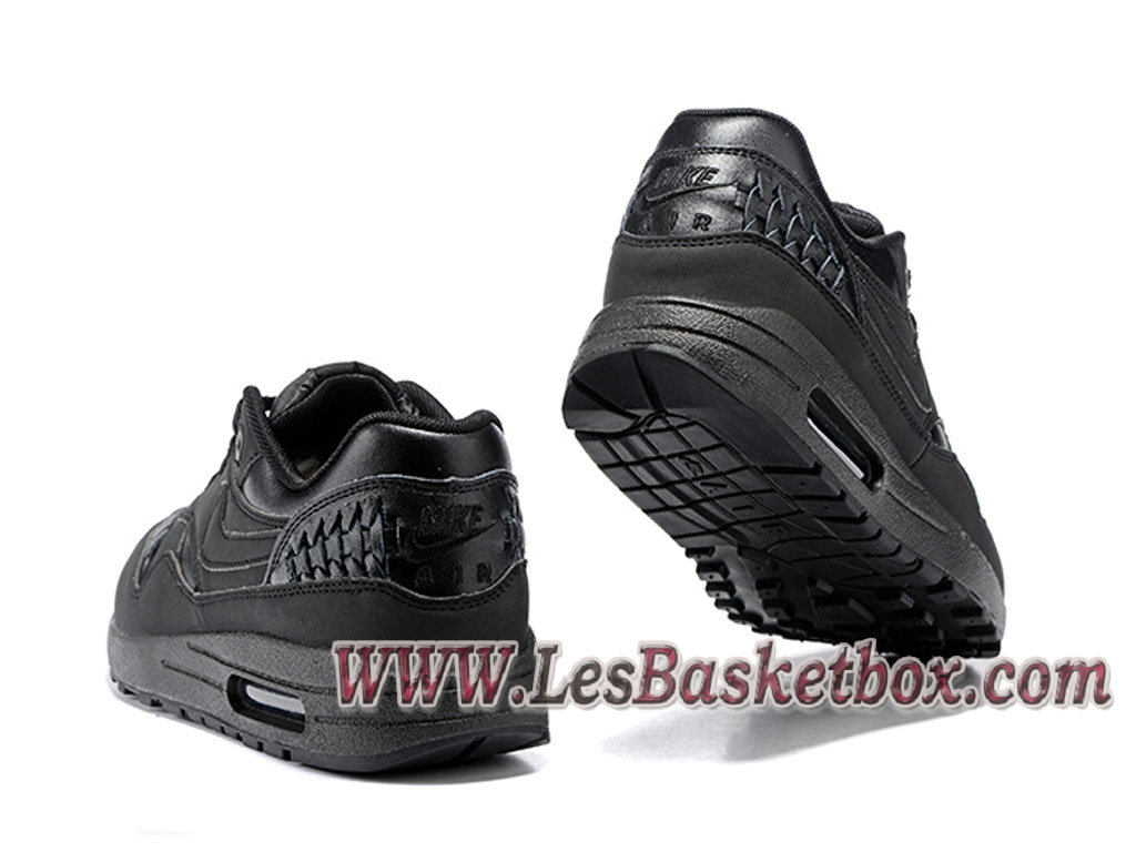 new style da04a 8246e ... Nike Air Max 1 Woven Triple Black 725232-002 Men´s Basket Prix Black