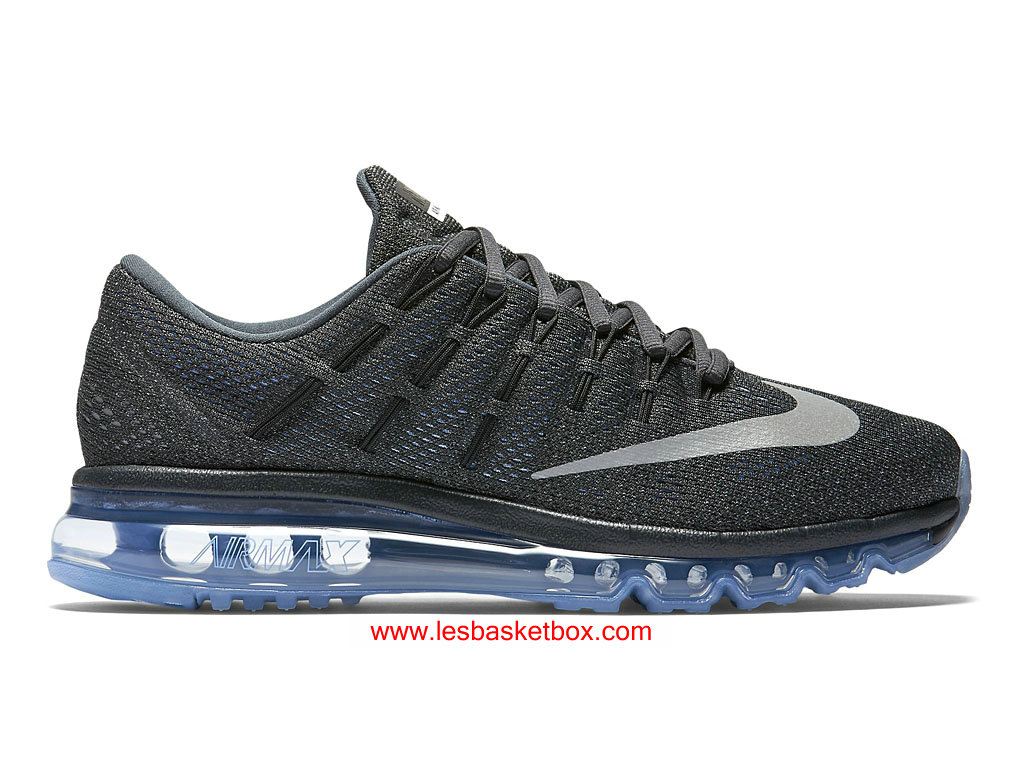 online store 3fbd7 75370 Nike Air Max 2016 Anthracite Argent Craie Bleu Femmes Chaussure 806772-004  ...