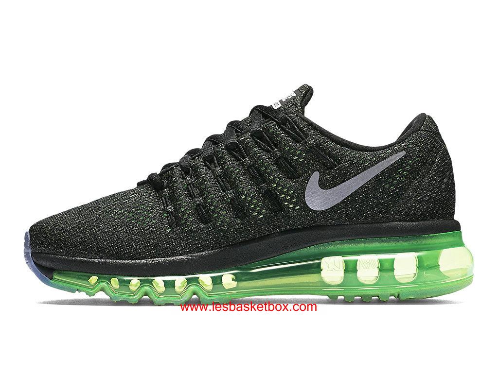 ... Nike Air Max 2016 Noir Argent Vert Chaussures Pour Femme 807236-003 ...