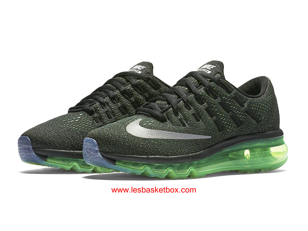 release date: 9b75f 654c6 ... Nike Air Max 2016 Black Silver Green Shoes For Women 807236-003 ...