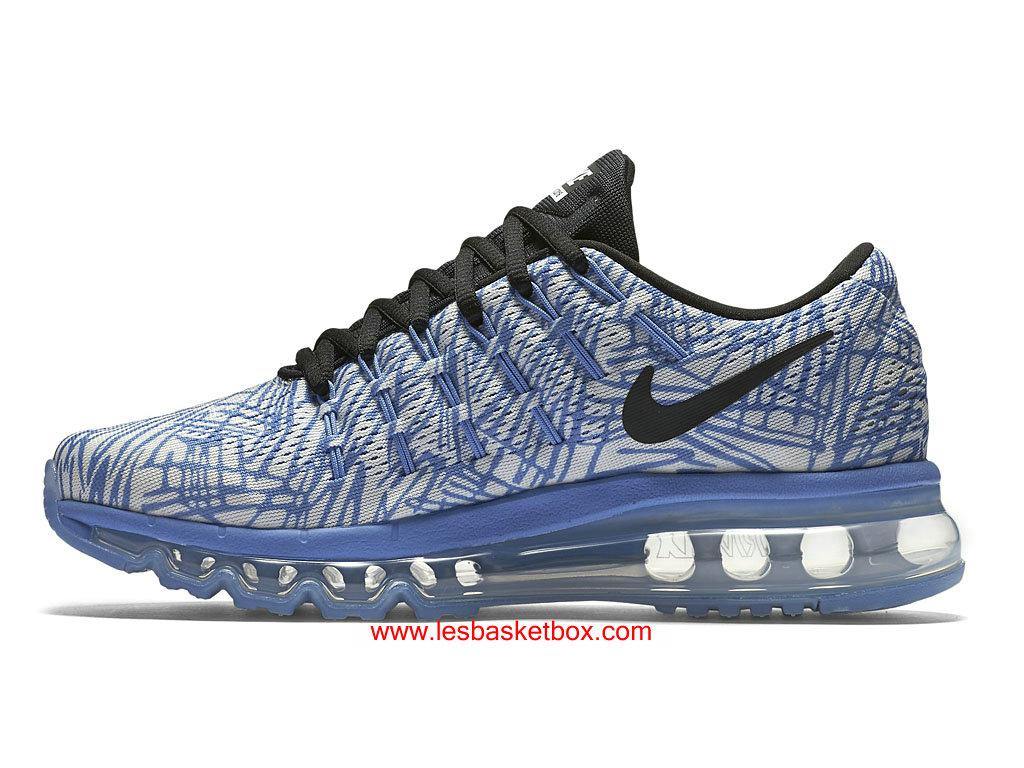 ... Nike Air Max 2016 Print Chaussures Blue Gris Pour Femme 818101-400 ...