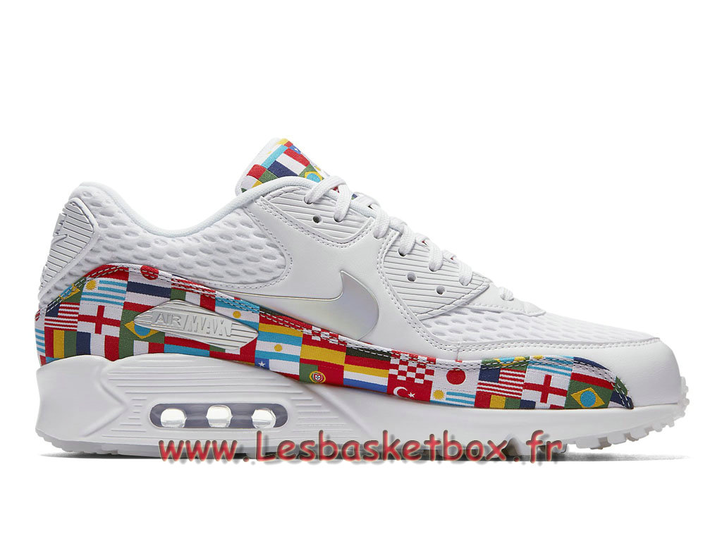 huge selection of 482b0 2b222 ... Nike Air Max 90 NIC QS Multi AO5119 100 Chaussures Officiel Pas cher  Pour Homme Blanc ...