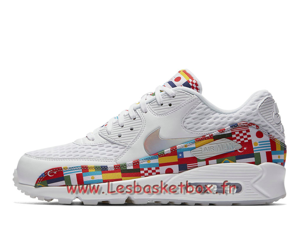 sale retailer f4d98 6ae84 Nike Air Max 90 NIC QS Multi AO5119 100 Chaussures Officiel Pas cher Pour Homme  Blanc ...