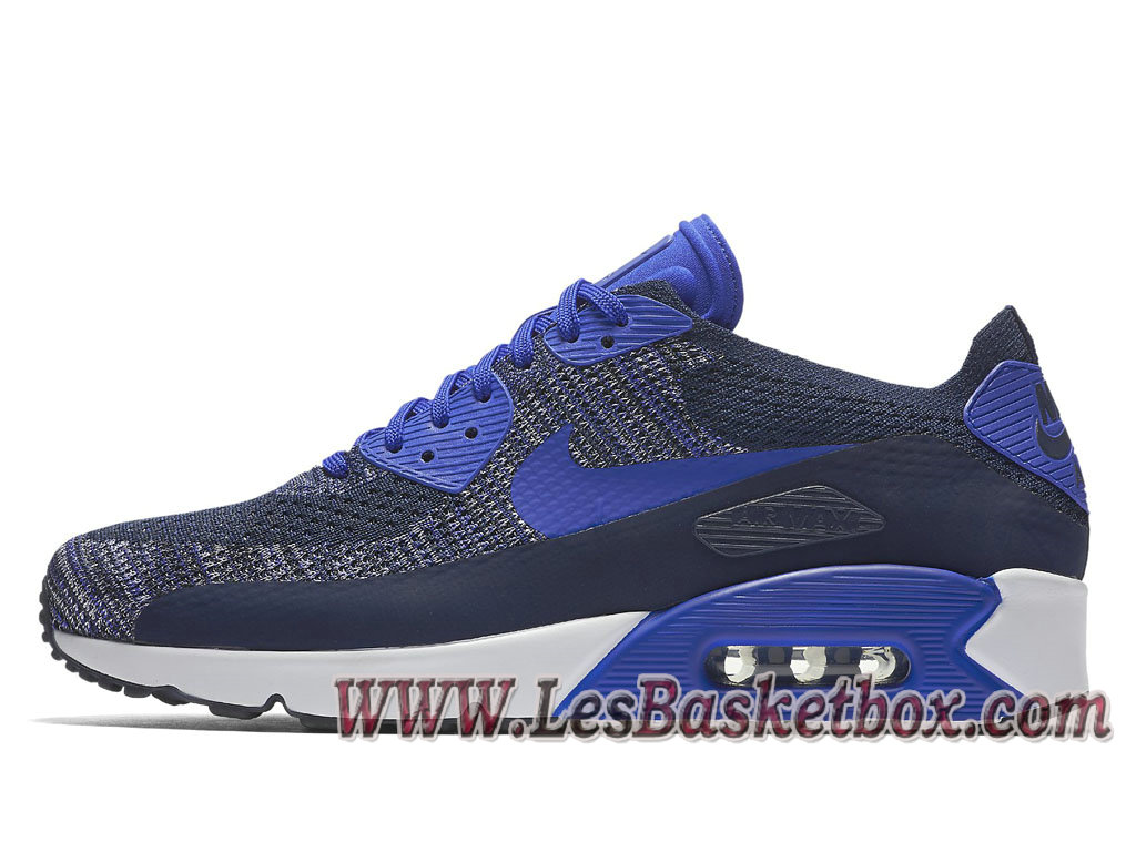 Nike Air Max 90 Ultra 2.0 Flyknit Bleue 875943_400 Chaussures Officiel NIke 2017 les meilleur prix