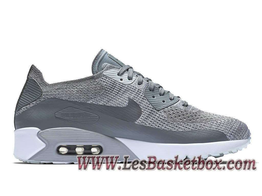 Sneaker Nike Air Max 90 Ultra 2.0 Flyknit Chaussures de BasketBall Pas Cher Pour Homme Bleu Blanc 875943 400 875943 400 Nike Sneaker 2018 France