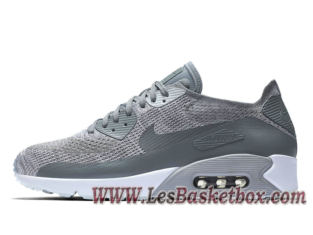Nike Air Max 90 Ultra 2.0 Flyknit Cool Grey 875943_003 Chaussures Nike 2017 Pour Homme