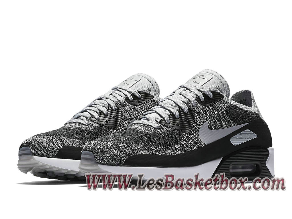 sports shoes 1e2cb 356ac ... Nike Air Max 90 Ultra 2.0 Flyknit wolf grey 875943 005 Chaussures Nike  2017 Pour Homme ...