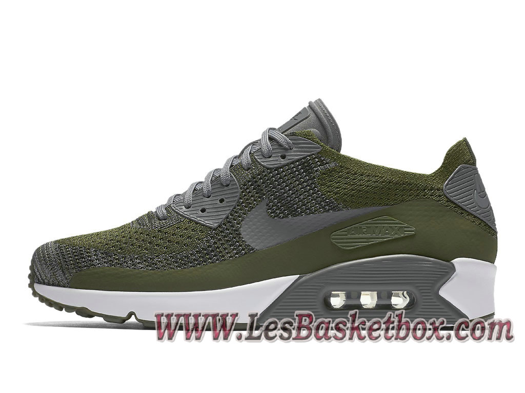 Nike Air Max 90 Ultra Flyknit Dark Gray 875943_300 Chaussures NIke Pas cher Pour Homme