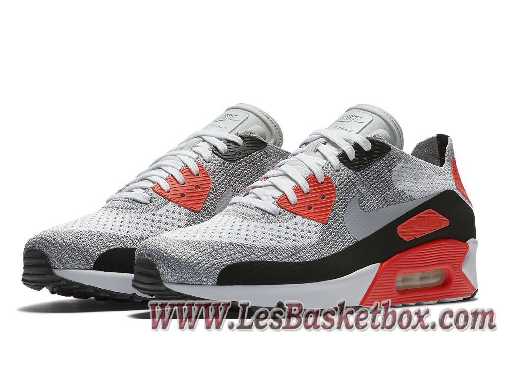 ... Nike Air Max 90 Ultra Flyknit Infrared 23 875943_100 Chaussures NIke Pas cher Pour Homme ...